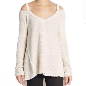 Free People Moonshine Cold Shoulder Sweater S